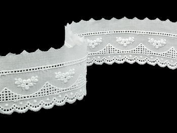 Embroidery lace No. 65115 white | 13,8 m - 4