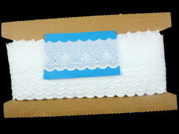 Embroidery lace No. 65119 white | 9,2 m - 4