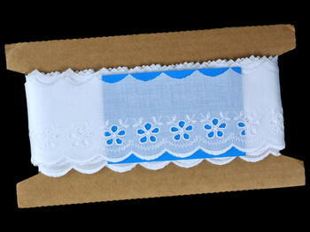 Embroidery lace No. 65001 white | 9,2 m - 4