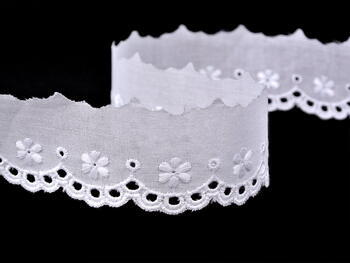 Embroidery lace No. 65006 white | 9,2 m - 4