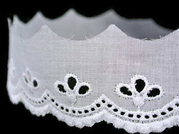 Embroidery lace No. 65010 white | 9,2 m - 4