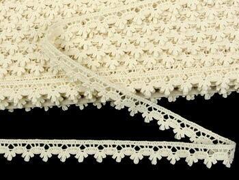 Cotton bobbin lace 73010, width 13 mm, ecru - 4