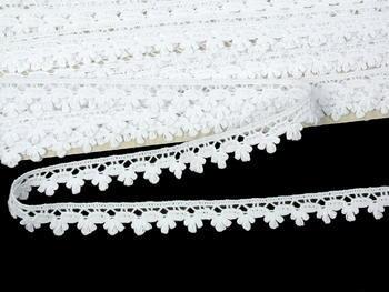 Paličkovaná krajka vzor 73010 bílá | 30 m - 4