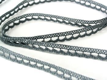 Cotton bobbin lace 73012, width 10 mm, gray - 4