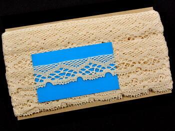 Cotton bobbin lace 75019, width31mm, ecru - 4