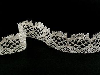 Paličkovaná krajka 75022 bavlněná, šířka45mm, slonová kost - 4
