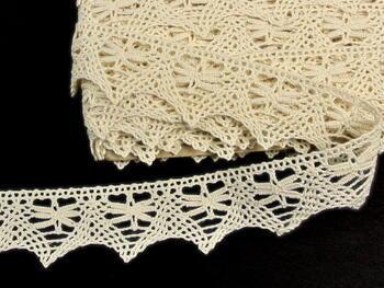 Cotton bobbin lace 75039, width36mm, ecru - 4