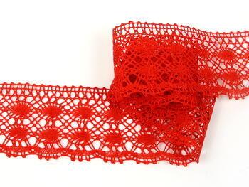 Cotton bobbin lace 75076, width 53 mm, pink - 4