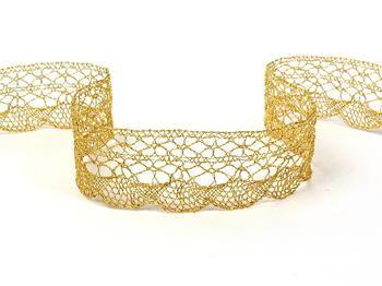 Paličkovaná krajka vzor 75077 zlatá| 30 m - 4