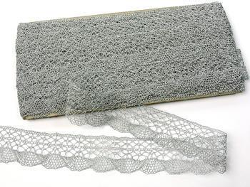 Paličkovaná krajka vzor 75077 stříbrná | 30 m - 4