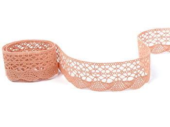 Bobbin lace No. 75077 salmon pink | 30 m - 4