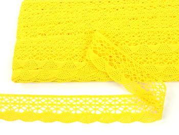 Paličkovaná krajka vzor 75077 žlutá | 30 m - 4