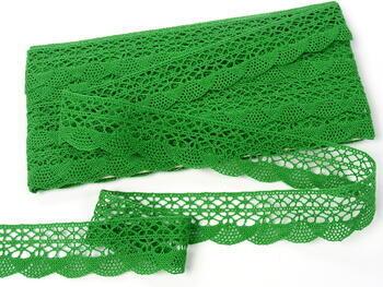 Paličkovaná krajka 75077 bavlněná, šířka32mm, trávová zelená - 4
