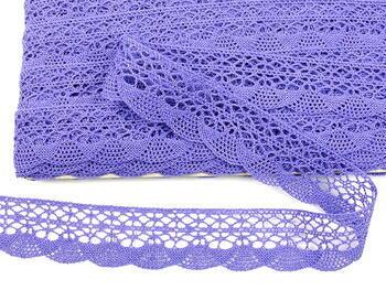 Paličkovaná krajka 75077 bavlněná, šířka32mm, purpurová II/fialová - 4