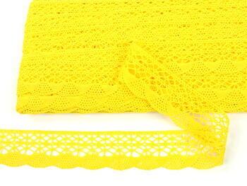 Paličkovaná krajka 75077 bavlněná, šířka32mm, světle žlutá - 4