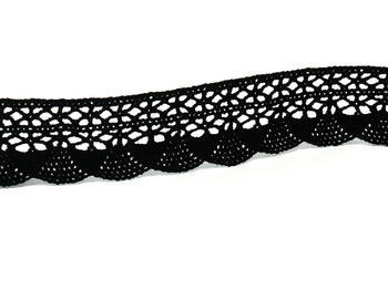 Bobbin lace No. 75077 black | 30 m - 4