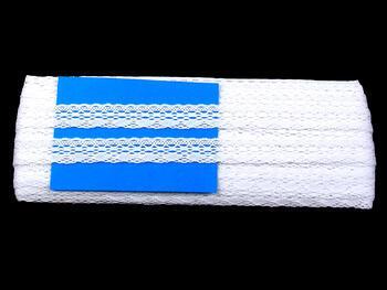 Paličkovaná krajka 75081 bavlněná, šířka19mm, bílá - 4