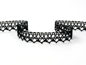 Paličkovaná krajka vzor 75087 černá | 30 m - 4