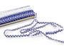 Paličkovaná krajka vzor 75087 bílá/modrá | 30 m - 4/5