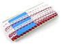 Bobbin lace No. 75087 white/red bilberry | 30 m - 4/4