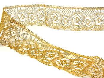 Metalic bobbin lace 75096, width 68 mm, Lurex gold - 4