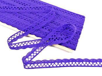 Cotton bobbin lace 75099, width 18 mm, purple/violet - 4