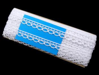 Paličkovaná krajka vzor 75100 bílá | 30 m - 4