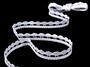 Cotton bobbin lace 75114, width 11 mm, white - 4/4