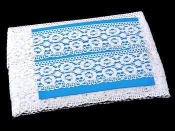 Paličkovaná krajka vzor 75119 bílá | 30 m - 4