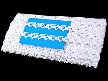 Paličkovaná krajka vzor 75120 bílá | 30 m - 4