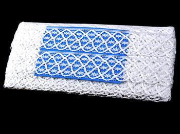 Paličkovaná krajka vzor 75123 bílá | 30 m - 4