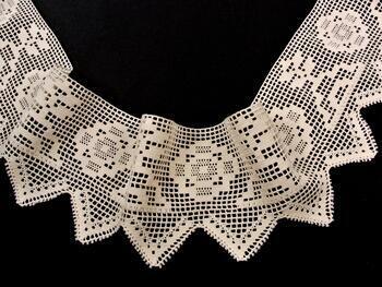 Cotton bobbin lace 75126, width 120 mm, ecru - 4