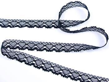 Cotton bobbin lace 75133, width 19 mm, black - 4