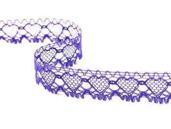 Cotton bobbin lace 75133, width 19 mm, purple - 4