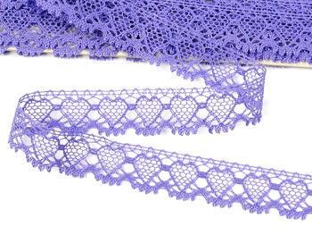 Paličkovaná krajka vzor 75133 purpurová II. | 30 m - 4