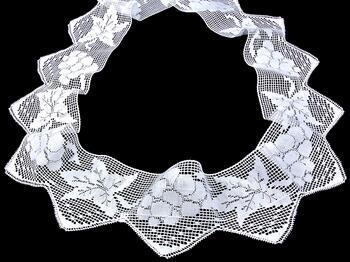 Cotton bobbin lace 75136, width97 mm, white - 4