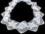 Cotton bobbin lace 75136, width97 mm, white - 4/5