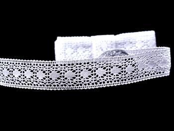 Cotton bobbin lace insert 75159, width24mm, white - 4