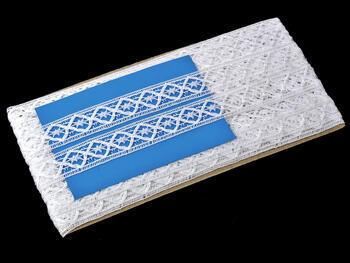 Paličkovaná vsadka vzor 75165 bílá | 30 m - 4