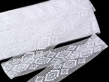 Paličkovaná vsadka 75166 bavlněná, šířka40 mm, bílá - 4