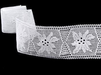 Cotton bobbin lace insert 75168, width80mm, white - 4