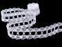 Cotton bobbin lace 75170, width 30 mm, white - 4/4