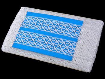 Paličkovaná vsadka vzor 75172 bílá | 30 m - 4