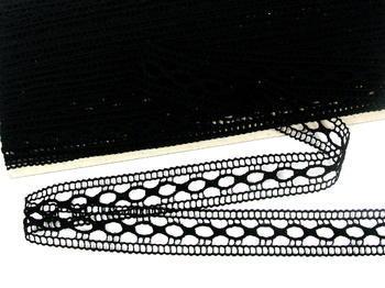 Paličkovaná vsadka vzor 75181 černá | 30 m - 4