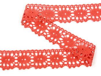 Bobbin lace No. 75187 coral | 30 m - 4