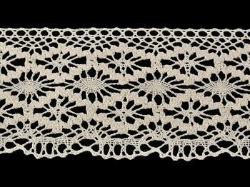 Cotton bobbin lace 75188, width 100 mm, ecru - 4