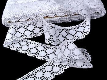 Paličkovaná krajka vzor 75195 bílá | 30 m - 4