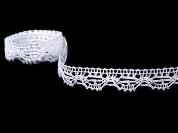 Paličkovaná krajka 75203 bavlněná, šířka 20 mm, bílá - 4
