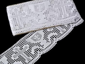 Paličkovaná krajka 75204 bavlněná, šířka 100 mm, bílá - 4