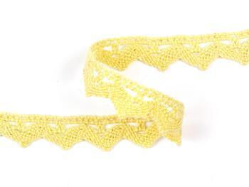 Paličkovaná krajka 75207 bavlněná, šířka 14 mm, světle žlutá - 4